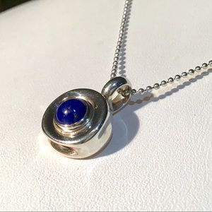 🎁Sterling Silver and Lapis Pendant Necklace